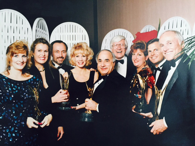 Dave Marriner with the Taylor Woodrow Team at the 1991 MAME Awards