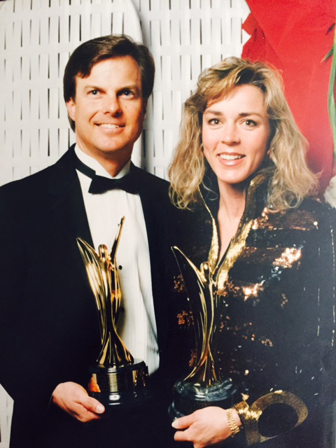 Dave and Nancy Marriner with Marketing Manager of the Year MAME Award, 1991