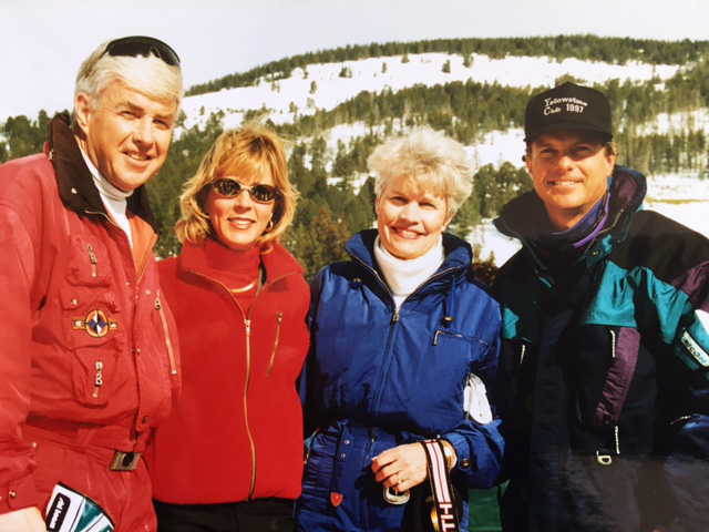 Dave and Nancy Marriner with Jack and Joanne Kemp at the Yellowstone Club