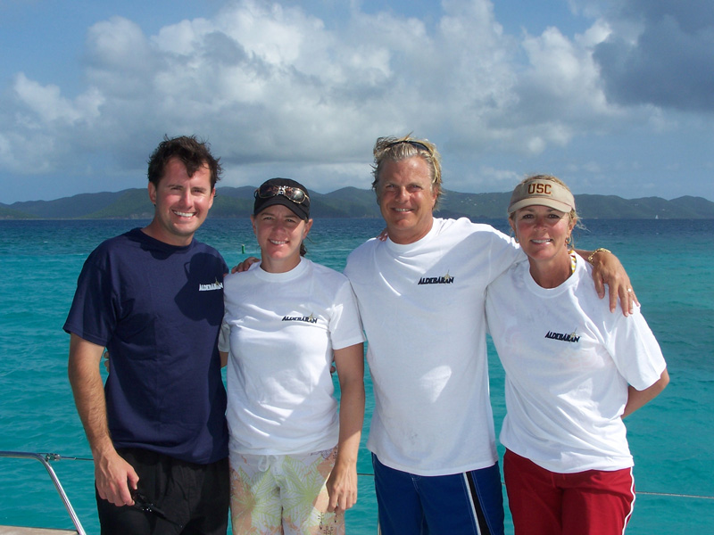 Dave and Nancy Marriner with legendary golfer Annika Sorenstam and her husband Mike McGee in the USVI
